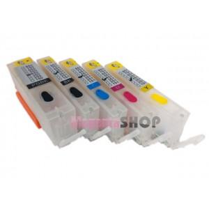 ПЗК iP7250 – перезаправляемые картриджи (с чипами) для Canon PIXMA: iP7250, MG5450, MG5550, MX925, iX6850, MG6450