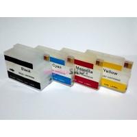ПЗК HP 711 - перезаправляемые картриджи (с чипами) для HP DesignJet: T520, T120, T125, T130, T525, T530