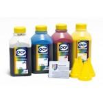 OCP BKP 249, C 760, M 758, Y 752 4 шт. по 500 грамм - чернила (краска) для картриджей HP: 21, 22