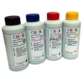 Чернила (краска) CMYK для принтеров Epson: L100, L110, L120, L132, L200, L210, L222, L300, L310, L312, L350, L355, L362, L364, L365, L366, L382, L386, L455, L456, L486, L550, L555, L566, L655, L1300 - 100гр. 4 штуки.