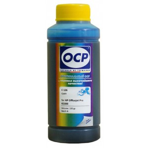 Чернила OCP C 126 Cyan (Голубой) для C9386AE (HP88) 100 гр.