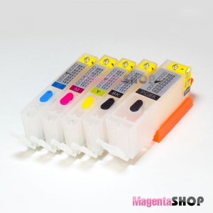 ПЗК MG5740 – перезаправляемые картриджи (с чипами) для Canon PIXMA: MG5740, MG6840, TS5040, TS6040