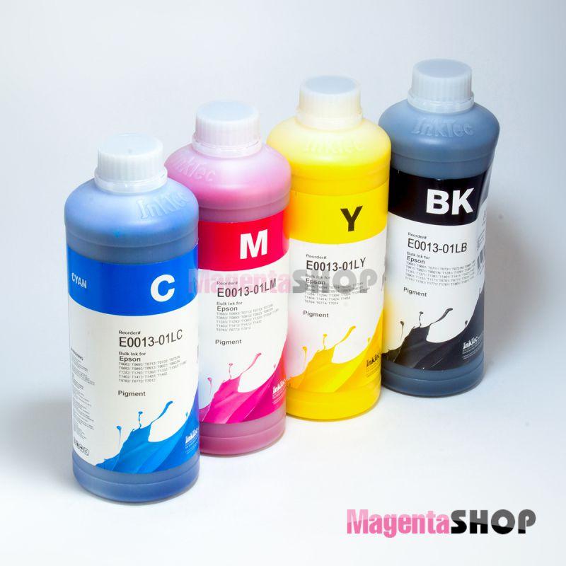 InkTec E0013 1000гр. 4 штуки – пигментные чернила (краска) для Epson: CX4300, TX117, TX119, T27, C91, TX106, TX109