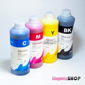 InkTec E0013 1000гр. 4 штуки – пигментные чернила (краска) для Epson: WF-7015, WF-7515, WF-7510, WF-7525, WF-7520, WF-7010, WP-4020, WP-4540, WF-2010W, WF-5110DW, WF-5620DWF