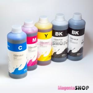 InkTec C5050/C5051 1000гр. 5 штук – пигментно-водные чернила (краска) для Canon: MG5740, MG6840, MG5720, MG6820