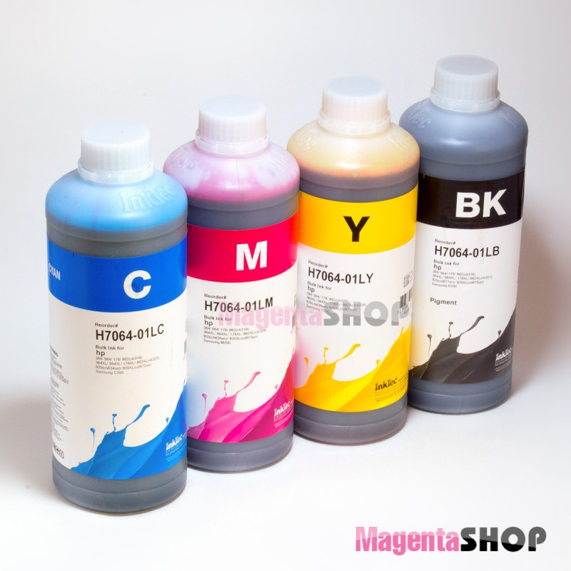 InkTec H7064 1000гр. 4 штуки - чернила (краска) для картриджей HP: 178, 920, 364, 862, 563
