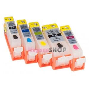 ПЗК MG5350 – перезаправляемые картриджи для Canon PIXMA: MG5350, MG5150, iP4850, MG5250, iX6550, iP4950