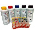Антикризисный набор. ПЗК для Canon iP7240, MG5440, MX924, MG5540, MG5640, MG6440, MG6640, iX6840 с чипами и комплект чернил CMYK 100x5