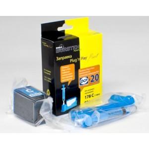 Набор для заправки картриджа HP 178, 920 Cyan принтеров 5510, 3070A, 7000, 4500, B110 и др.