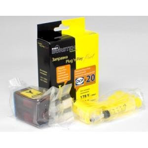 Набор для заправки картриджа HP 178, 920 Yellow принтеров 5510, 3070A, 7000, 4500, B110 и др.