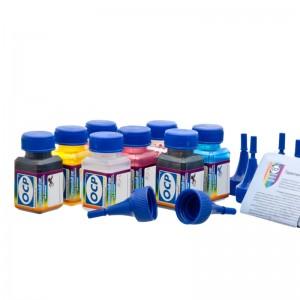 OCP YP 102, BKP 114, BKP, CP 115, MP 117, MPL, CPL 118, BKP 201 8 штук по 25 грамм - чернила (краска) для принтеров Epson Stylus Photo 2100, 2200