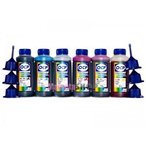 Чернила (краска) OCP для Epson T50, RX620, TX700W, PX730WD, EP-977A3, EP-805A, EP-905A - 100 гр. 6 штук.
