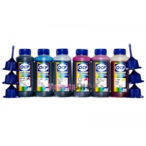 Чернила (краска) OCP для Epson R270, R295, TX8700FW, XP-960, EP-777A, EP-806AW, EP-905F - 100 гр. 6 штук.