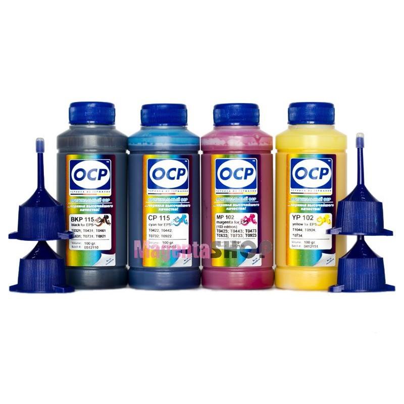 Чернила (краска) OCP для Epson SX125, SX230, SX430W, T27, WF-7510, CX5900, WF-7525 - 100 гр. 4 штуки.
