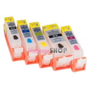 ПЗК MG5340 – перезаправляемые картриджи (без чипов) для Canon Pixma: MG5340, MG5140, IX6540, IP4940, IP4840, MG5240, MX884, MX714, MX894