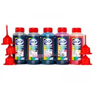 OCP BKP 44, BK 124, C 154, M, Y 144 100гр. 5 штук - чернила (краска) для принтеров Canon PIXMA: MG5340, iP4940, MG5240, iP4840, MG5140, MX714, MX884, MX894, iX6540