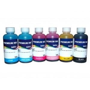 Чернила (краска) InkTec для принтеров Epson: Stylus Photo, Colorio - 100 гр. 6 штук.