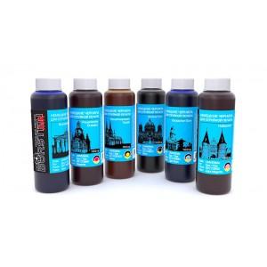 Чернила (краска) BURSTEN Ink для принтеров Epson: Colorio, Expression Photo, Stylus Photo - 100 гр. 6 штук.