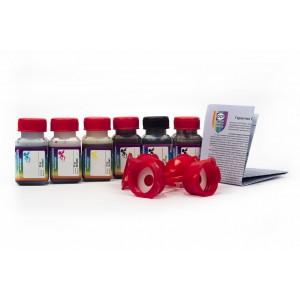 OCP BK 35, BK 124, BK 123, C 795, M, Y 144 (ECO SET NON STOP) 6 штук по 25 грамм - чернила (краска) для картриджей Canon PIXMA: PGI-425, PGI-520, CLI-426, CLI-521