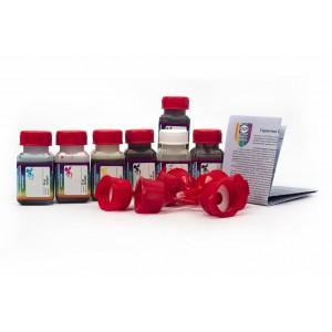 OCP BKP 44, BK 124, BK 123, C 154, M, Y 144 + RSL 7 штук по 25 грамм - чернила (краска) для картриджей Canon PIXMA: PGI-425, PGI-520, CLI-426, CLI-521