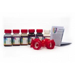 OCP BK 35, BK 124, C 795, M, Y 144 (ECO SET NON STOP) + RSL 6 штук по 25 грамм - чернила (краска) для картриджей Canon PIXMA: PGI-425, PGI-525, CLI-426, CLI-526