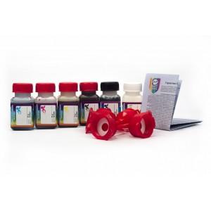 OCP BK 35, BK 124, C 154 M, Y 144 (SAFE SET) + RSL 6 штук по 25 грамм - чернила (краска) для картриджей Canon PIXMA: PGI-425, PGI-525, CLI-426, CLI-526