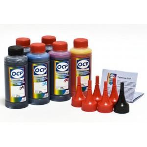 OCP BK 35, BK 123, BK 124, C 795, M, Y 144 (ECO SET NON STOP) 100гр. 6 штук - чернила (краска) для принтеров Canon PIXMA: MP980, MP990, MG6140, MG6240, MG8140, MG8240