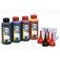 OCP BK 35, С, M, Y 710 (SAFE SET) 100гр. 4 штуки - чернила (краска) для принтеров Canon PIXMA: MG2140, MG2240, MG3140, MG3240, MG3540, MG3640, MG3640S, MG4140, MG4240, MX374, MX394, MX434, MX454, MX474, MX514, MX524, MX534