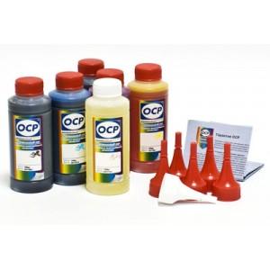 OCP BKP 44, BK 124, C 154, M, Y 144 + RSL 100гр. 6 штук - чернила (краска) для принтеров Canon PIXMA: MG5340, iP4940, MG5240, iP4840, MG5140, MX714, MX884, MX894, iX6540