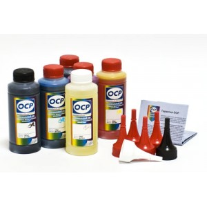 OCP BK 35, BK 124, C 154, M, Y 144 (SAFE SET) + RSL 100гр. 6 штук - чернила (краска) для картриджей Canon PIXMA: PGI-425, PGI-520, CLI-426, CLI-521