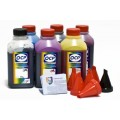 OCP BK 35, BK 123, BK 124, C 795, M, Y 144 (ECO SET NON STOP) 6 шт. по 500 грамм - чернила (краска) для картриджей Canon PIXMA: PGI-425, PGI-520, CLI-426, CLI-521