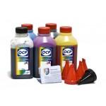 OCP BK 35, BK 124, C 795, M, Y 144 (ECO SET NON STOP) 5 шт. по 500 грамм - чернила (краска) для картриджей Canon PIXMA: PGI-425, PGI-520, CLI-426, CLI-521