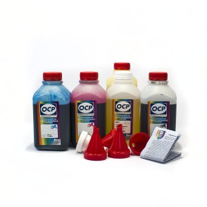 OCP BKP 44, C, M, Y 712 + RSL 5 шт. по 500 грамм - чернила (краска) для картриджей Canon PIXMA: PG-510, PG-512, CL-511, CL-513