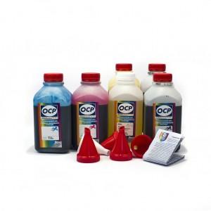 OCP BK 35, BK 124, C 795, M, Y 144 (ECO SET NON STOP) + RSL 6 шт. по 500 грамм - чернила (краска) для картриджей Canon PIXMA: PGI-425, PGI-520, CLI-426, CLI-521