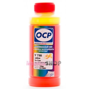 Чернила OCP Y 712 для Canon CL-511, CL-513 Yellow 100 гр.