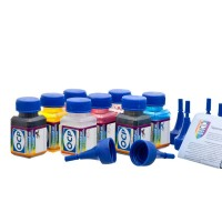 OCP BKP, CP, MP, YP 200, BKP, CPL, MPL 201, BKP 202, BKP 203 + RSL 10 штук по 25 грамм - чернила (краска) для принтеров Epson Stylus Photo R2400