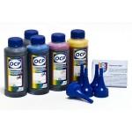 Чернила (краска) OCP (повышенной светостойкости) для принтеров Epson Expression Premium: XP-600, XP-605, XP-610, XP-615, XP-700, XP-710, XP-800, XP-810 - 100 гр. 5 штук.