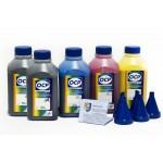 OCP BKP 115, BK 140, C 140, M 140, Y 140 (повышенной светостойкости) 5 шт. по 500 грамм - чернила (краска) для принтеров Epson Expression Home: XP-600, XP-700, XP-605, XP-800