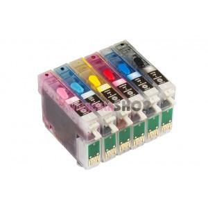 Заправленные ПЗК для Epson Stylus Photo PX720WD, PX730WD, PX820FWD, PX830FWD, P50, PX660, PX650