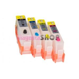 ПЗК HP 178 - перезаправляемые картриджи (без чипов) для HP PhotoSmart: 5510, 3070a, 5515, 6510, B110, B109, B210, B210, B209