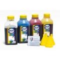 OCP BKP 249, C, M, Y 300 4 шт. по 500 грамм - чернила (краска) для картриджей HP: 61, 122, 301, 802