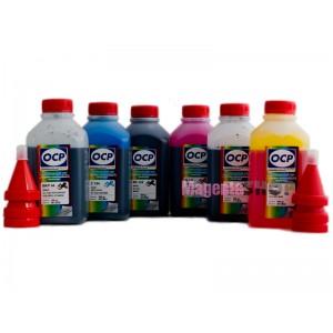 OCP BKP 44, BK 123, BK 124, C 154 M, Y 144 6 шт. по 500 грамм - чернила (краска) для картриджей Canon PIXMA: PGI-425, PGI-520, CLI-426, CLI-521