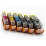 Комплект совместимых картриджей для Canon PIXMA MG6340, MG7140, MG7540, iP8740, 6 штук