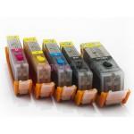 Комплект совместимых картриджей для Canon PIXMA MG5740, MG6840, TS5040, TS6040, 5 штук