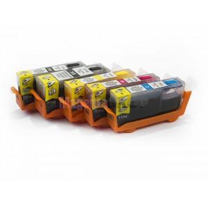 Комплект совместимых картриджей для Canon PIXMA iP4940, iP4840, MG5140, MG5240, MG5340, MX714, MX884, MX894, iX6540, 5 штук