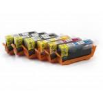 Комплект совместимых картриджей для Canon PIXMA MG6140, MG8140, MG6240, MG8240, 6 штук