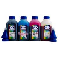 OCP BK, C, M, Y 155 4 шт. по 500 грамм - чернила (краска) для принтеров Epson: L1110, L3100, L3111, L3101, L3110, L3150, L3156, L3160, L3050, L3060, L3070, L5190