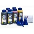 Чернила OCP BK, C, M, Y 155, ML, CL 156 6 шт. по 100 гр. для принтеров Epson InkJet Photo L800, L1800, L805, L810, L815, L850