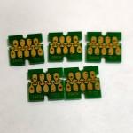 Чипы для ПЗК и СНПЧ на Epson SureColor SC-T3200, SC-T5200, SC-T7200, комплект 5 шт.