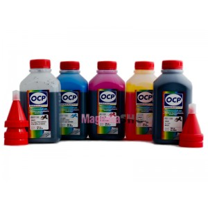 OCP BKP 44, BK 797, C 133, M,Y 122 5 шт. по 500 грамм - чернила (краска) для картриджей Canon PIXMA: PGI-5, CLI-8